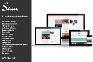 Sean, creative WordPress theme