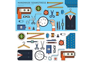 Handmade seamstress set