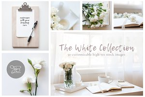 White Collection Stock Photo Bundle