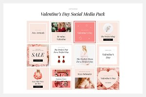 Valentine's Day Media Social Pack
