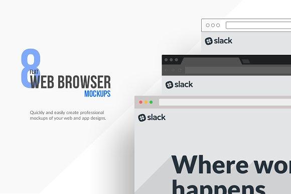 Download Flat Browser Mockups