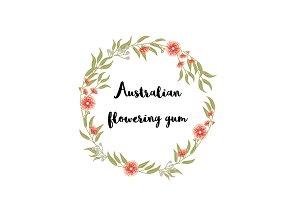 Australian Flowering Gum clip art