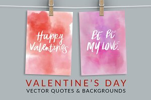 Valentine's Day Vector Quotes