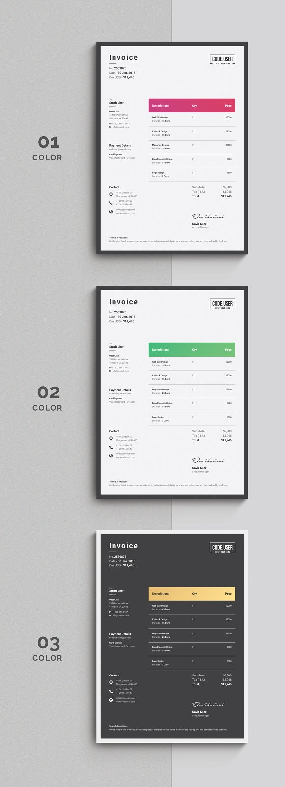 Invoice Stationery Templates Creative Market - Free business invoice templates word vapor store online