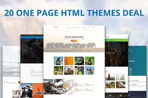 20 One Page HTML Themes Deal