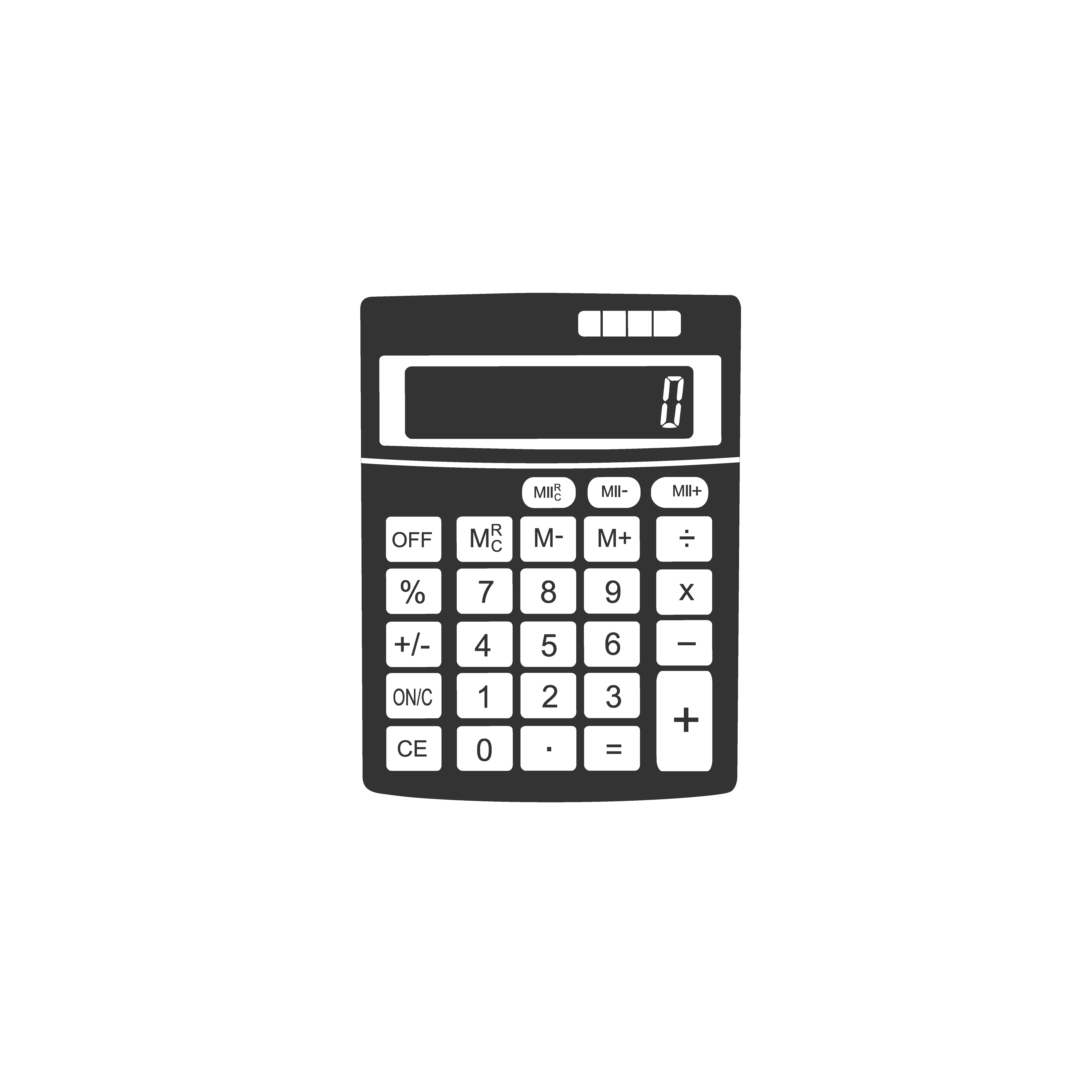 calculator icon vector illustrations creative market