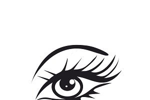 eye, icon, vector