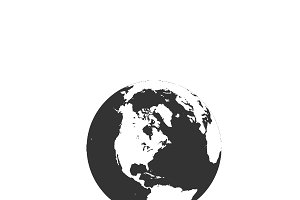 earth, globe, icon, vector