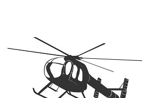 helicopter, icon, vector
