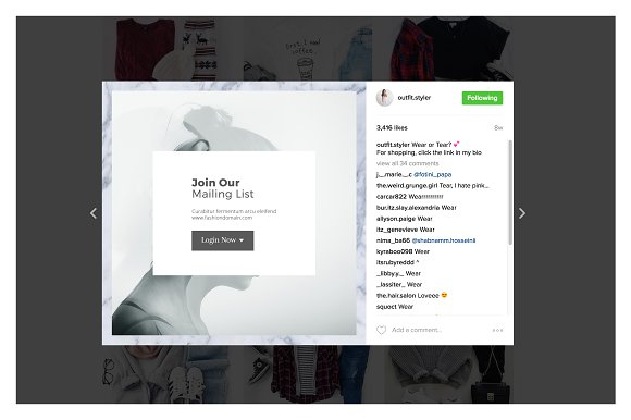 Instagram Fashion Pack in Instagram Templates - product preview 4