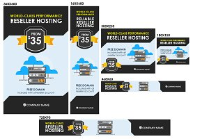 Web Hosting Banner Ad | Flat Style