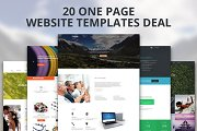 20 One Page Website Templates Deal