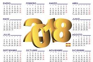2018 calendar spanish