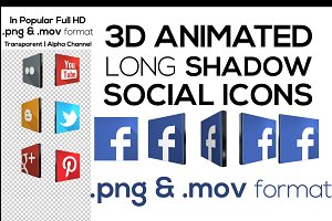 3D Social Network Icons + Animated