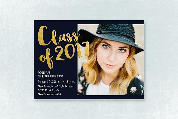 senior graduation announcement 003 invitation templates creative
