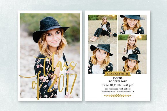 senior graduation announcement 009 invitation templates creative