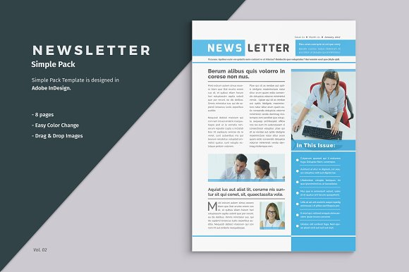 Business Newsletter Template Brochure Templates Creative Market – Corporate Newsletter Template