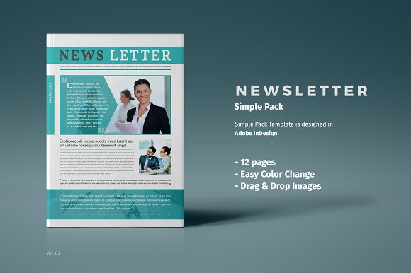 newsletter template brochure templates creative market