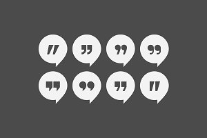 Quote marks vector icons