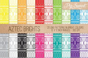 Aztec Brights 20 Pattern Set