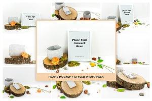 Frame Mockup + Styled Photo Pack