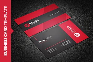 Bold Red Corporate Business Card