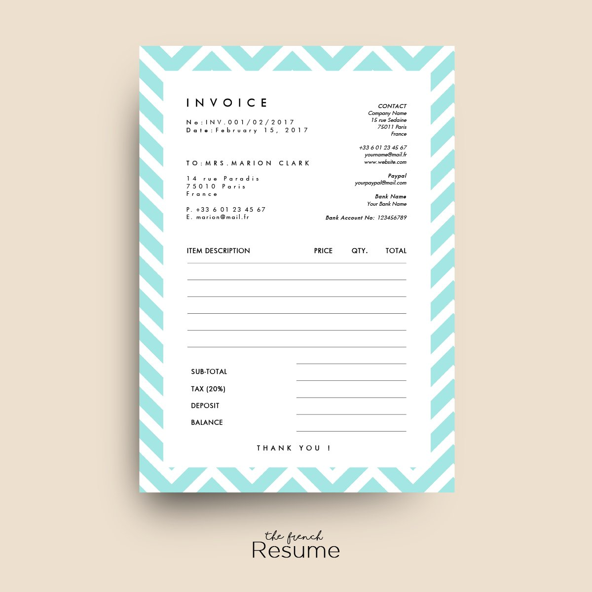 invoice receipt template for word stationery templates