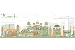Abstract Karachi Skyline