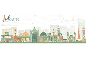 Abstract Lahore Skyline