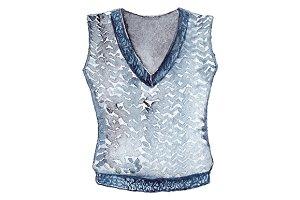 Watercolor school uniform vest