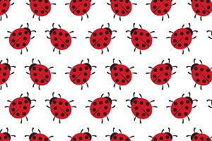 Vector background of Ladybug