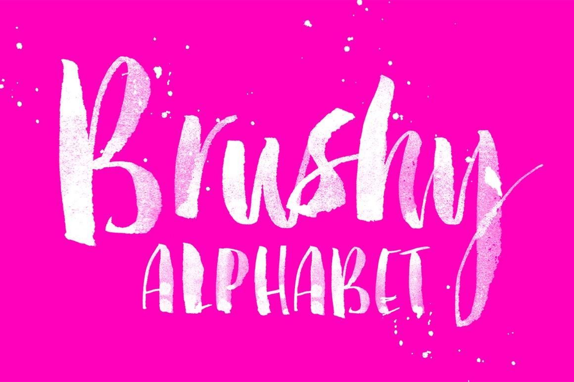 Brushy Alphabet ~ Illustrations ~ Creative Market