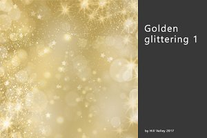 Golden glinstering background 1