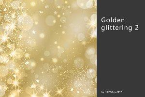 Golden glinstering background 2