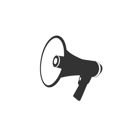 Loudspeaker Megaphone Icon Vector