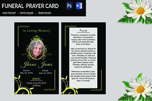 Funeral Prayer Card Template-V665