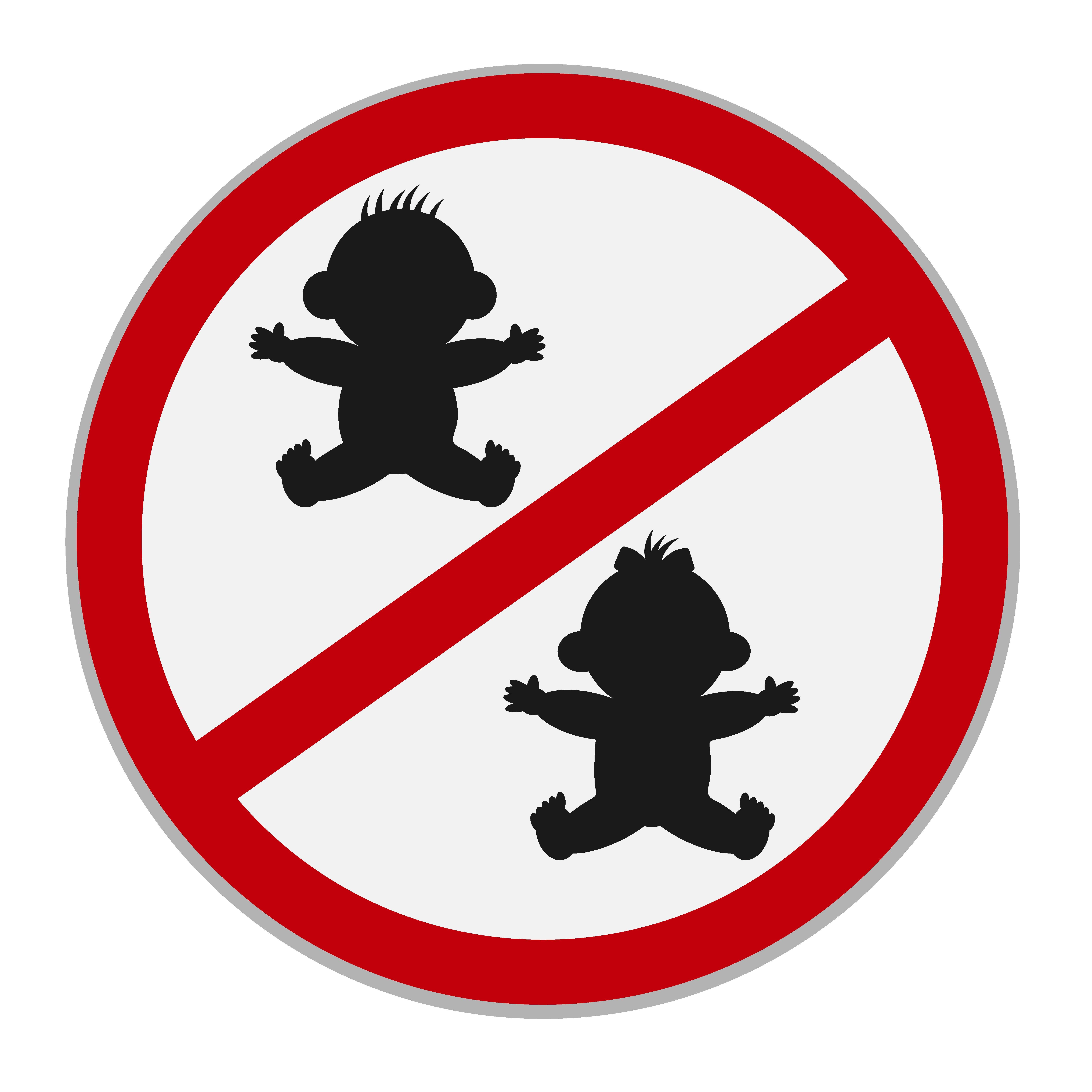 No kids allowed sign vector illustrations creative market buycottarizona