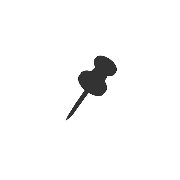 pin, icon, vector