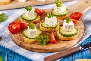 Healthy mini sandwiches