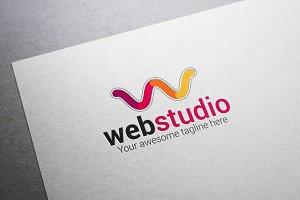 Web Studio W Letter Logo
