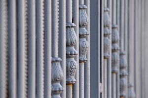 metallic handmade gate