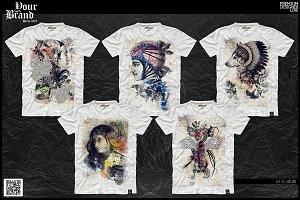 T-Shirt Graphic / Gothic & Skull