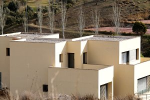 white modern andalusian houses