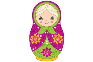 Vector Matryoshka, Russian Doll