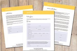 Photography Booking Form Templates