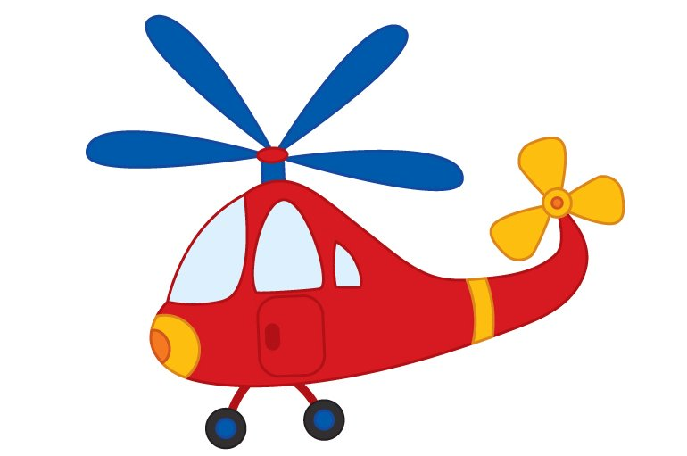 Fresh Vector Helicopter, Transport Clipart ~ Illustrations ~ Creative Market FJ73