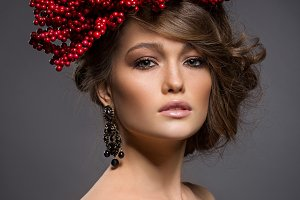 Beauty portrait of handsome girl