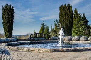 Fountain in public garden