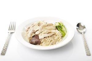 Steam Chicken with Rice