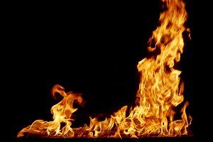 frame fire burn